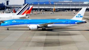 Where is the position of the KLM airline?