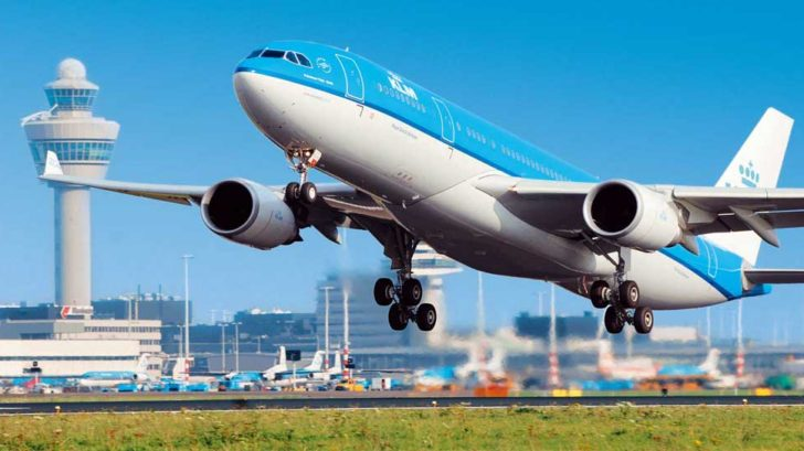 Where is the position of the KLM airlinepicc